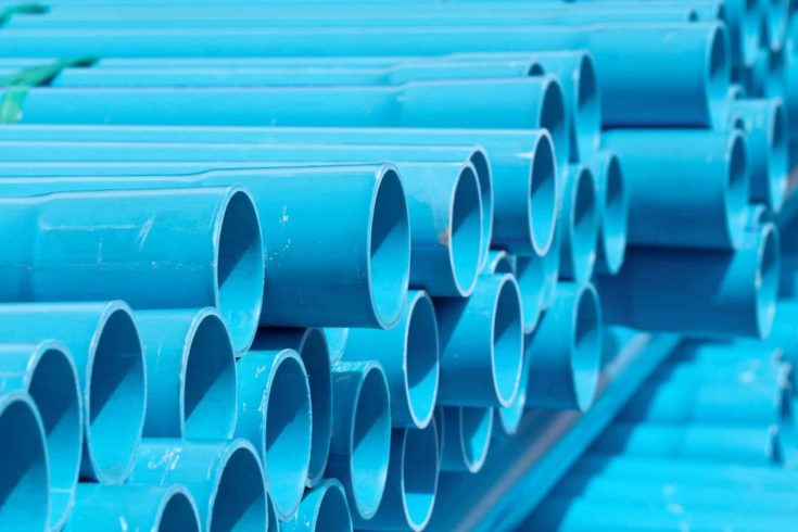 PVC pipes in construction site